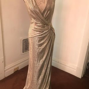 Gold Ralph Lauren gown